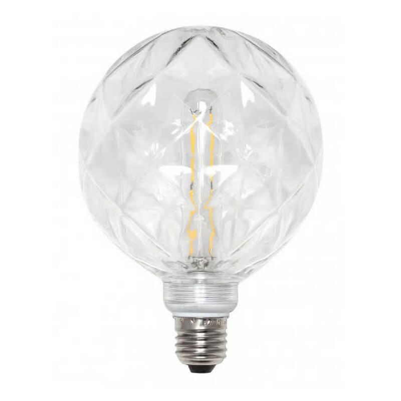 Bombilla decorativa led globo azulejo cristal transparente