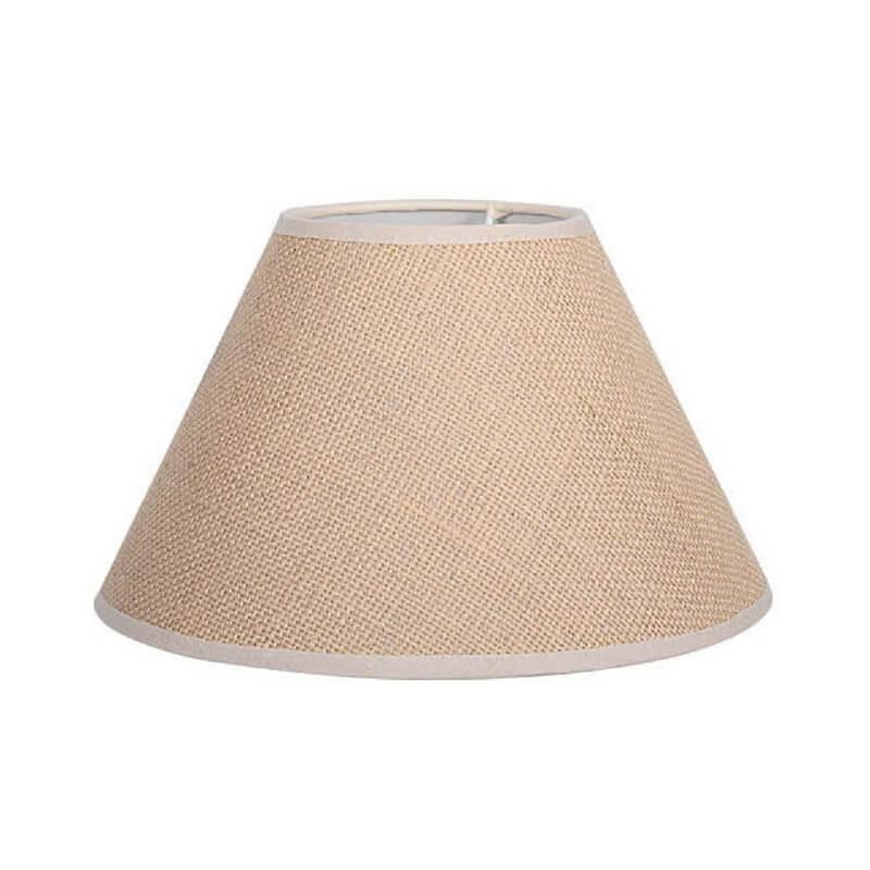 Pantalla de lámpara de mesa forma cónica tela de saco