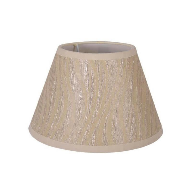 Pantalla de lámpara de mesa forma cónica trama de dunas