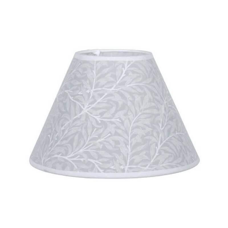 Pantalla de lámpara de mesa forma cónica estampado hojas