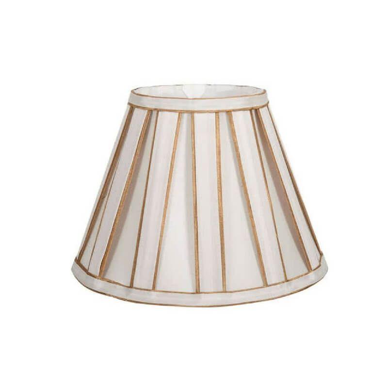 Pantalla de lámpara de mesa forma cónica plisada 2 tonos