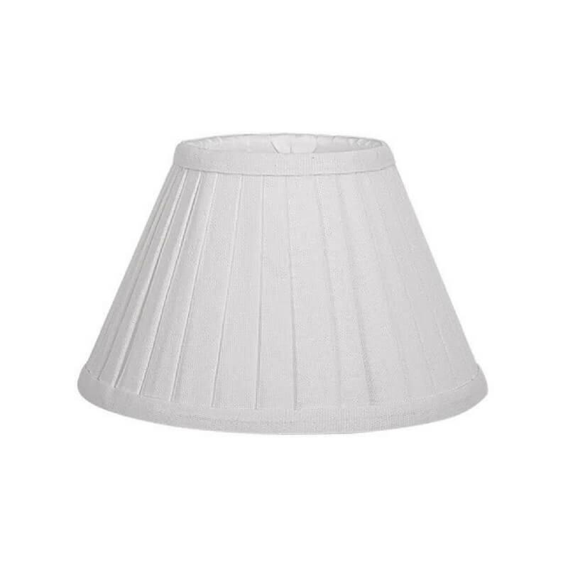Pantalla de lámpara de mesa forma cónica plisada natural