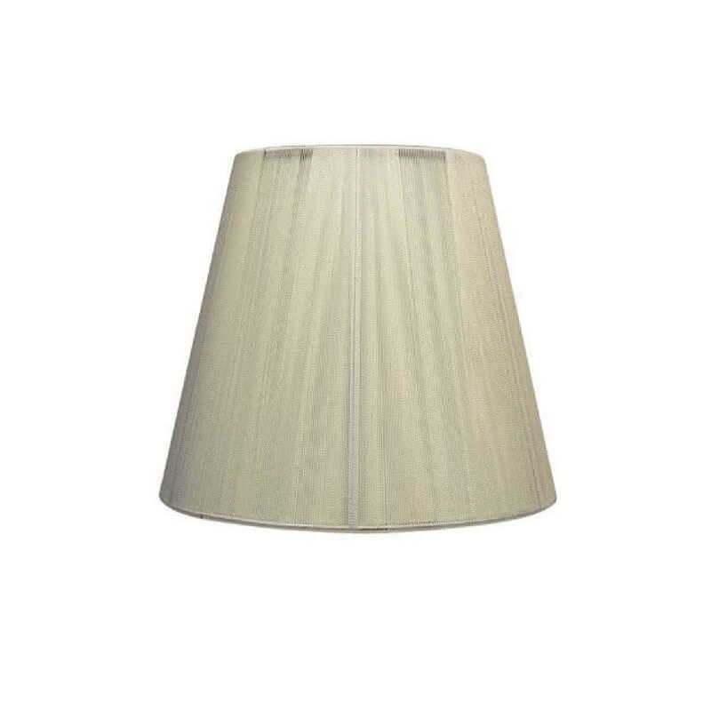Pantalla de lámpara forma cónica hilo de seda color beige