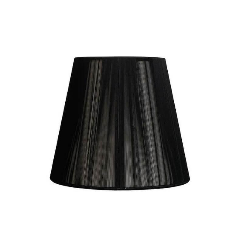 Pantalla de lámpara forma cónica hilo de seda color negro