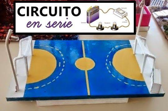 circuito eléctrico en serie de un campo de fútbol