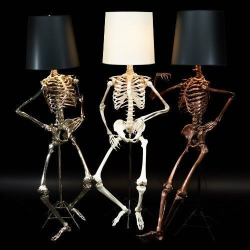 lámparas terroríficas halloween - colección Skeleton Philippe