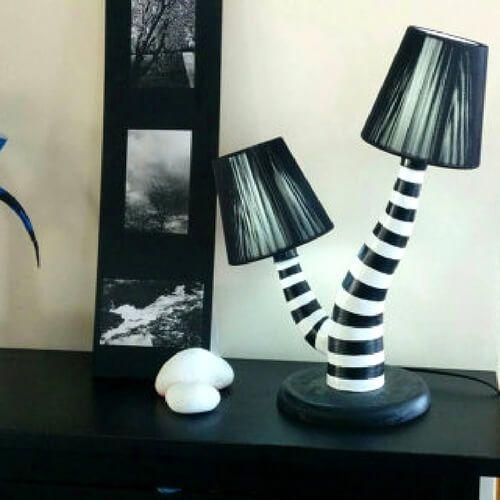 lámparas terroríficas halloween - lámpara Beetlejuice