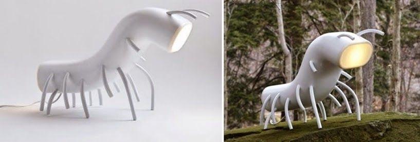 15 lámparas terroríficas halloween lámpara insecto