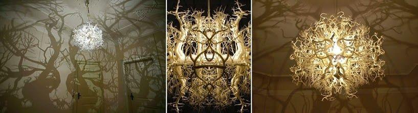 lámparas terroríficas halloween - lámpara bosque tenebroso