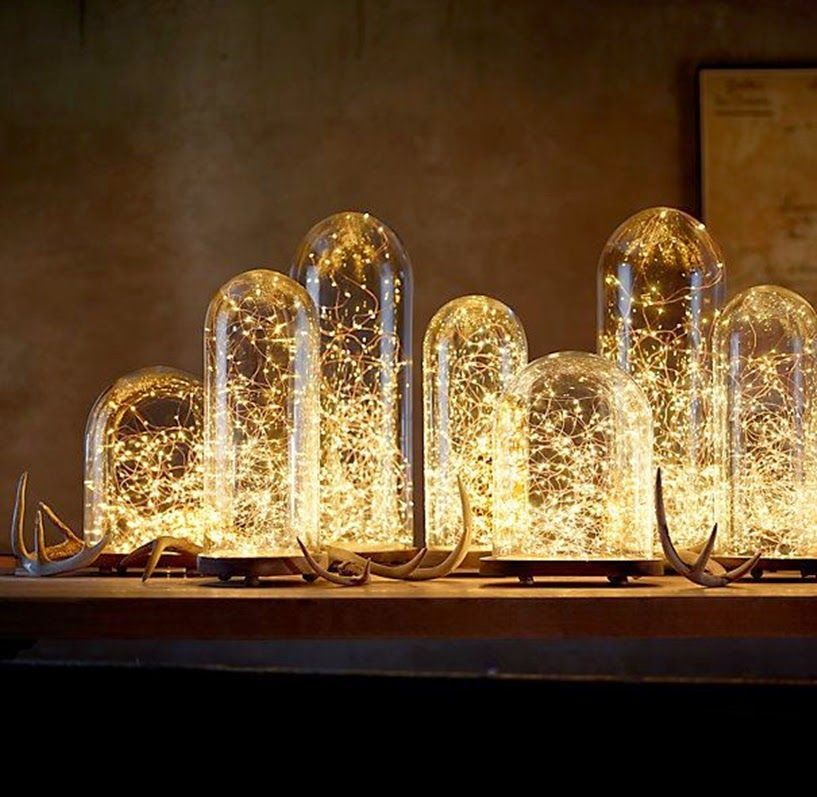 lámparas terroríficas halloween - lámparas mágicas de fibra óptica