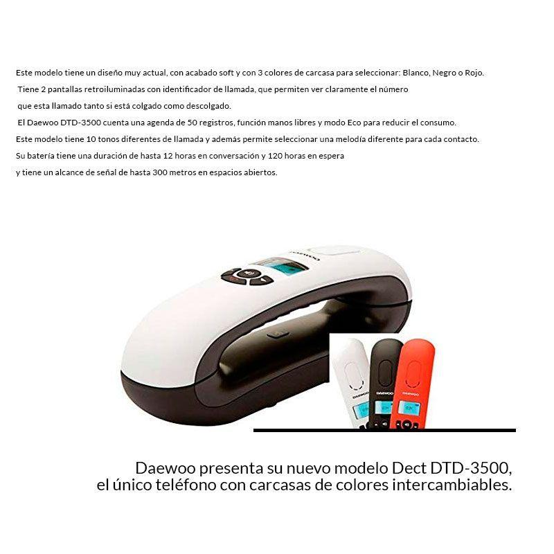 Teléfono inalámbrico Daewoo DTD-3500