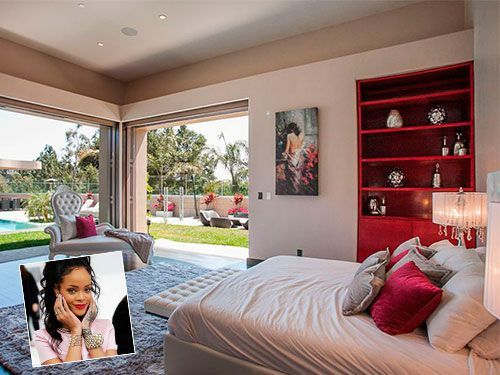 El dormitorio de Rihanna