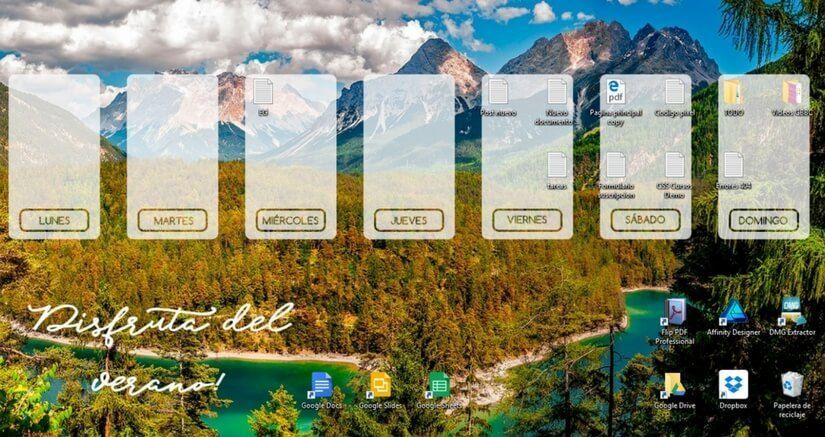 fondos de pantalla verano gratis para descargar con planificador semanal