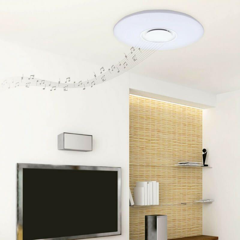Plafón led con altavoz y regulador de luz