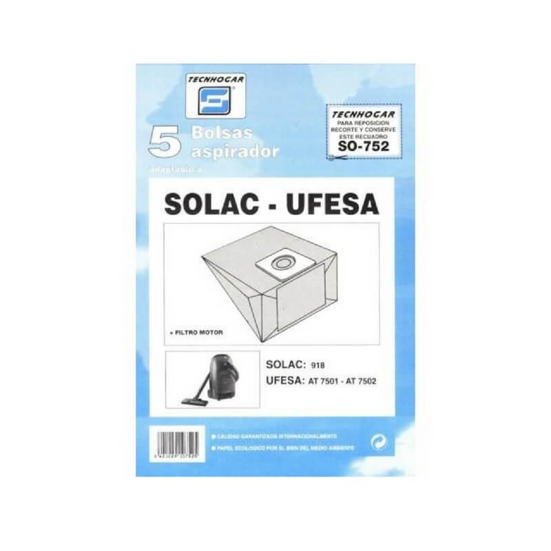 Bolsa de aspirador Solac o Ufesa