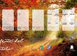 Fondo pantalla otoño gratis con planificador semanal