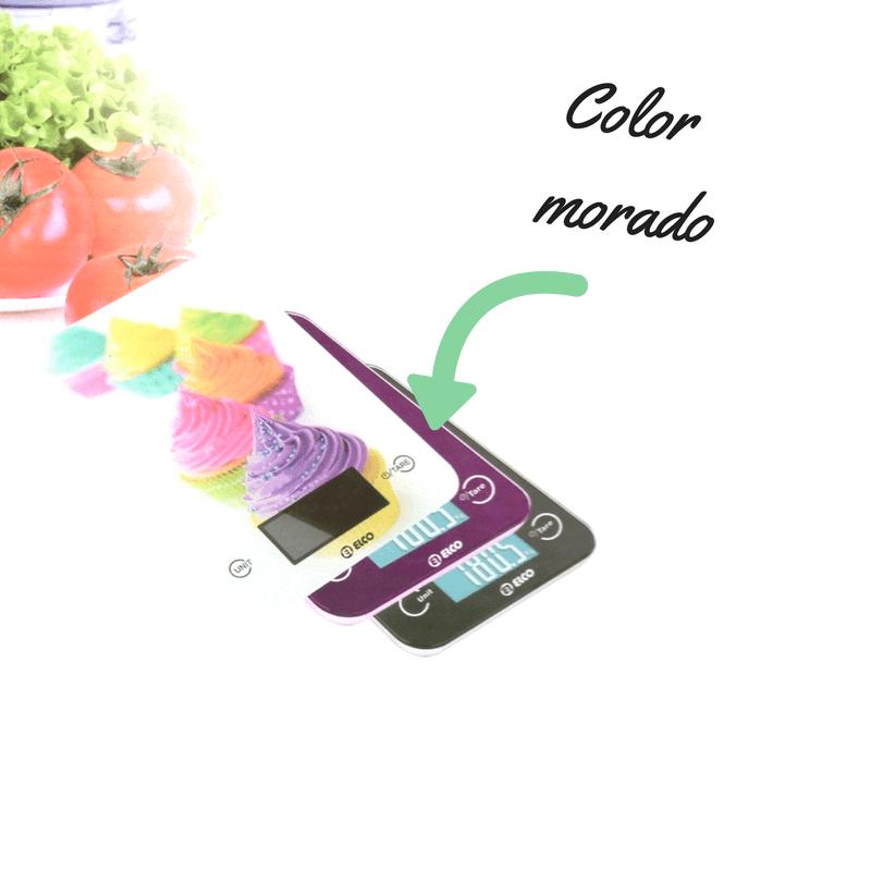Báscula cocina digital Elco color morado