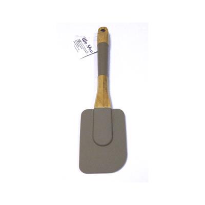 Espátula de silicona para cocinar mango madera