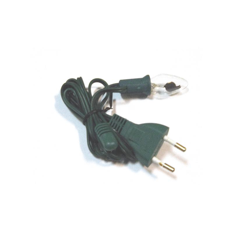 Bombilla efecto llama con cable para belén