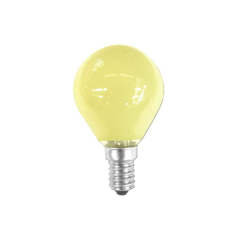 Bombilla esférica amarilla E14