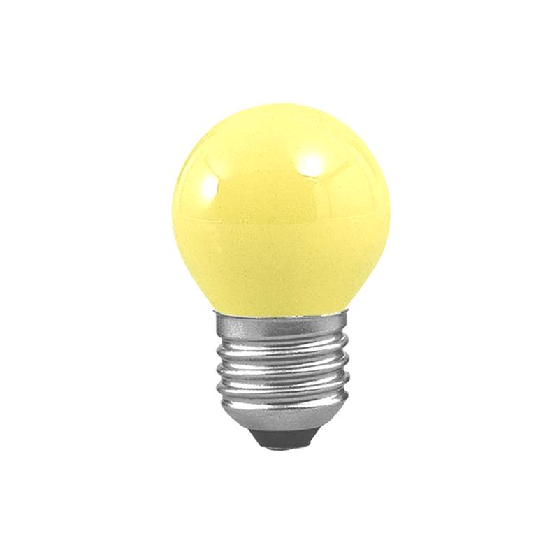 Bombilla esférica amarilla E27