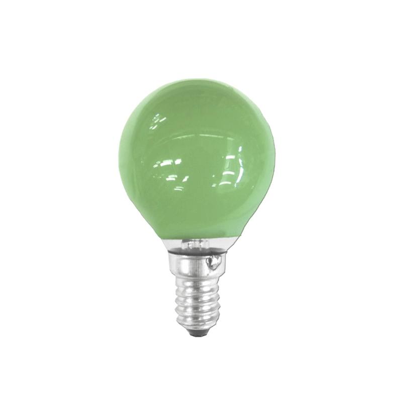 Bombilla esférica verde E14