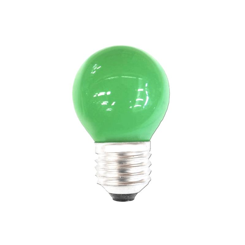 Bombilla esférica verde E27
