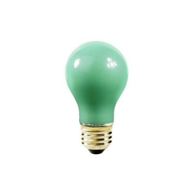 Bombilla estándar verde E27