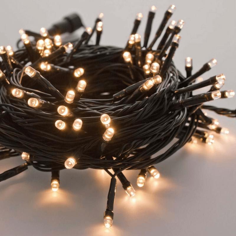 Guirnalda led 100 luces con movimiento color blanco cálido