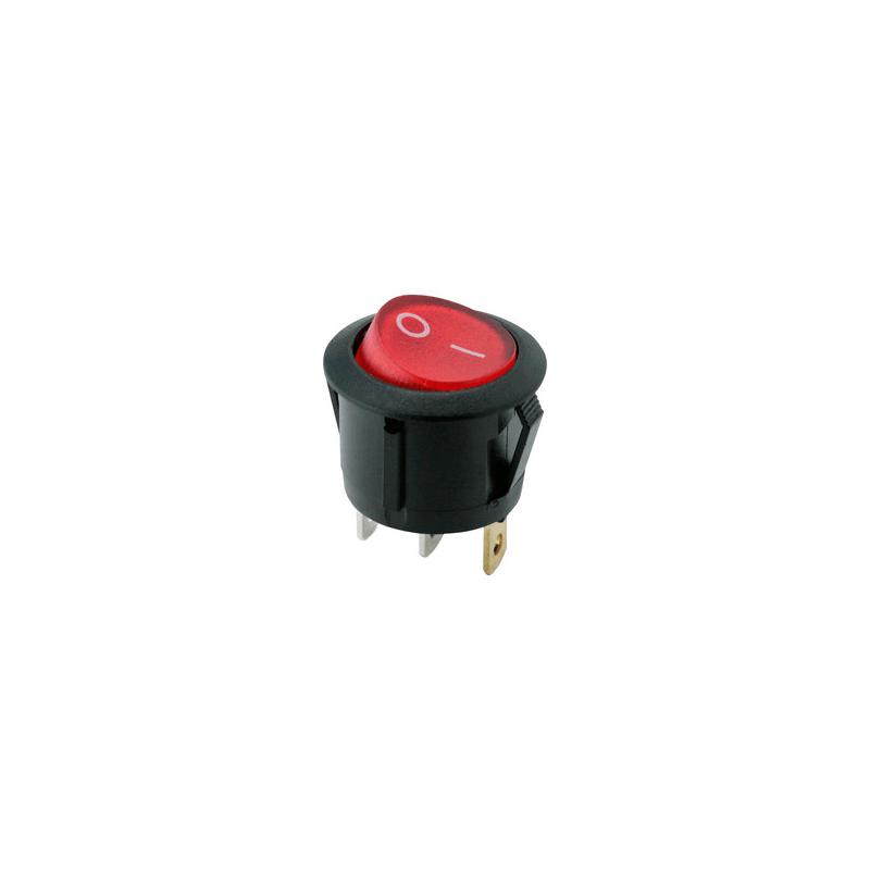 Interruptor mini redondo con luminoso