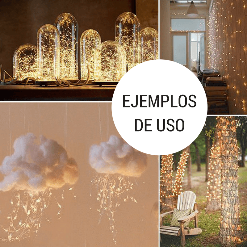 Mini cortina 200 luces ejemplos de uso