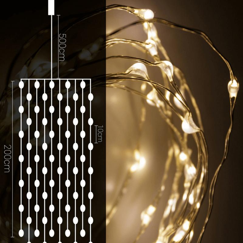 Mini cortina 200 luces led formato