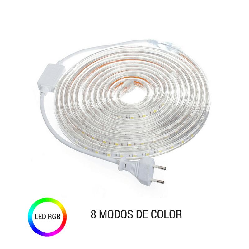 Tira led RGB para conectar a red 8 modos de color
