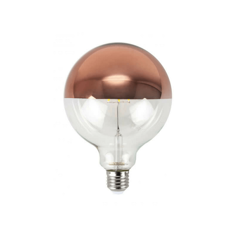 Bombilla decorativa led tipo globo oro rosa
