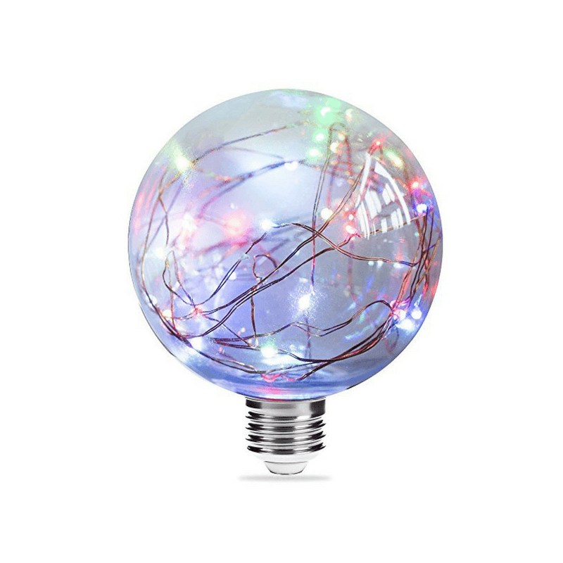 Bombilla globo led con guirnalda