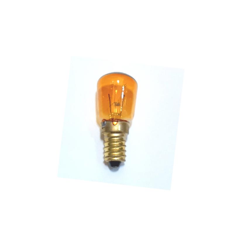 Bombilla mini E14 amarilla pebetero