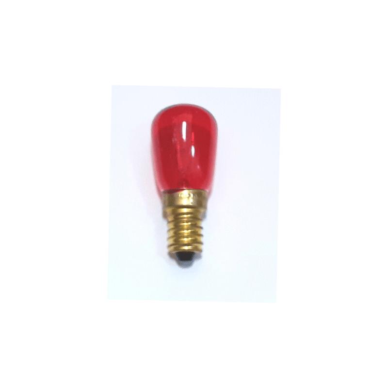 Bombilla mini E14 roja pebetero
