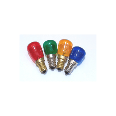 Bombilla mini E14 varios colores pebetero