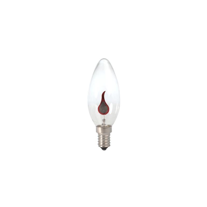 Bombilla vela llama oscilante E14 mini