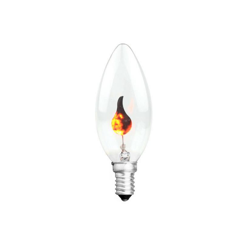 Bombilla vela llama oscilante E14