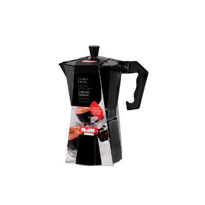 Cafetera de aluminio negra Ibili
