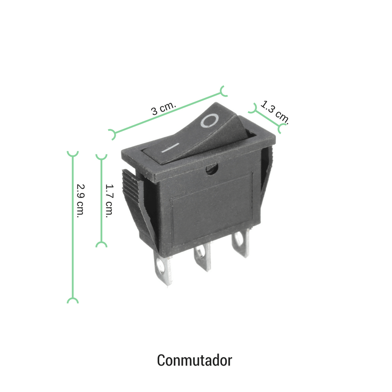 Conmutador basculante para empotrar