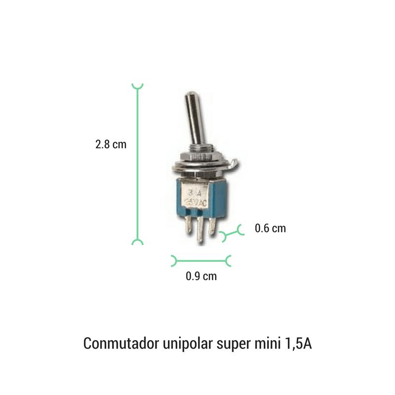 Conmutador palanca mini 1.5A