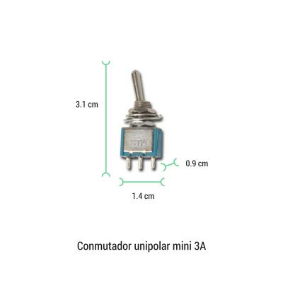 Conmutador palanca mini 3A
