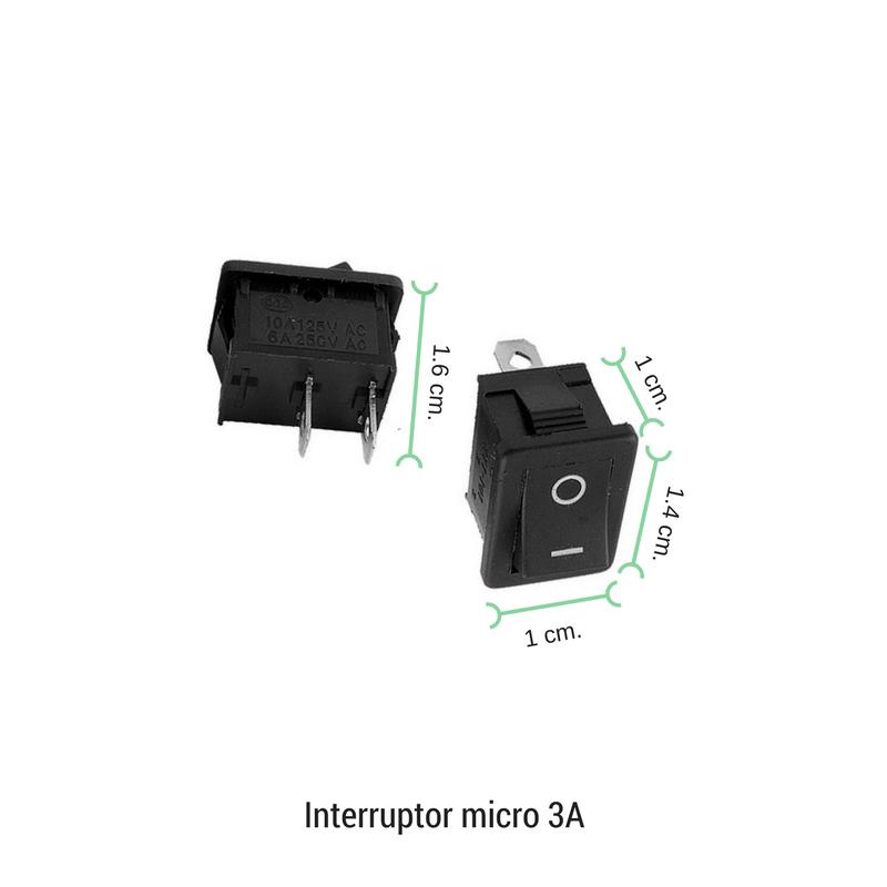 Interruptor basculante micro 3A