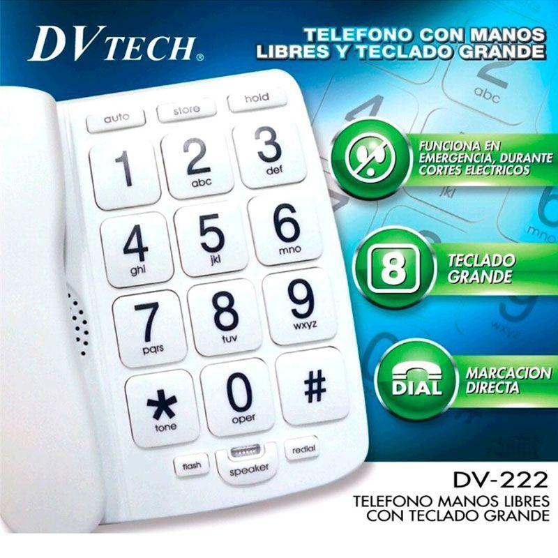 Teléfono fijo teclas grandes DV-222