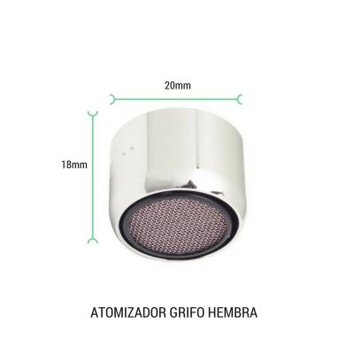 Atomizador de grifo hembra 20mm