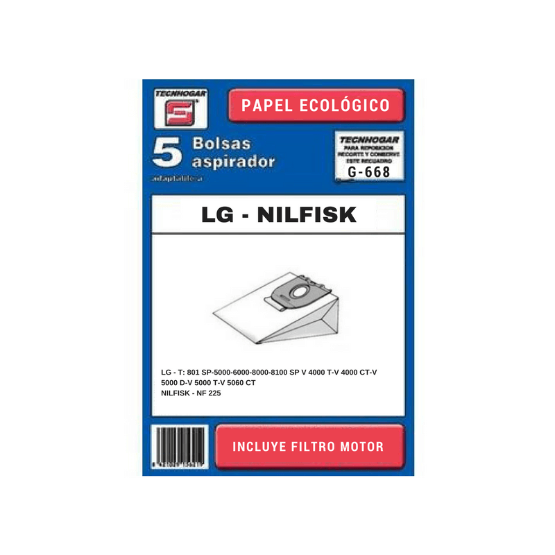Bolsa de aspirador LG 668