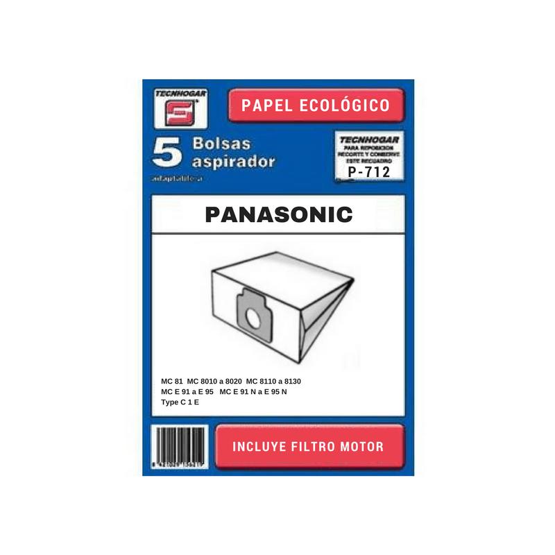 Bolsa de aspirador Panasonic 712