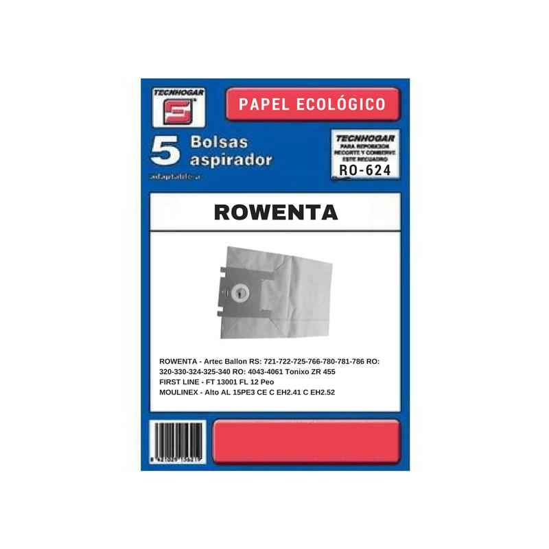 Bolsa de aspirador Rowenta 624